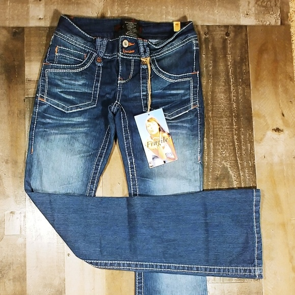 af134d4d Fragile Blue Jeans Jeans | Destressed Boot Cut | Poshmark